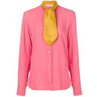 Marni Camisa Com Contraste - Pink & Purple
