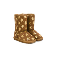 Emu Kids Ankle Boot De Camurça Estampada - Brown