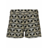 Alice+Olivia Shorts Com Bordado Marisa - Metallic