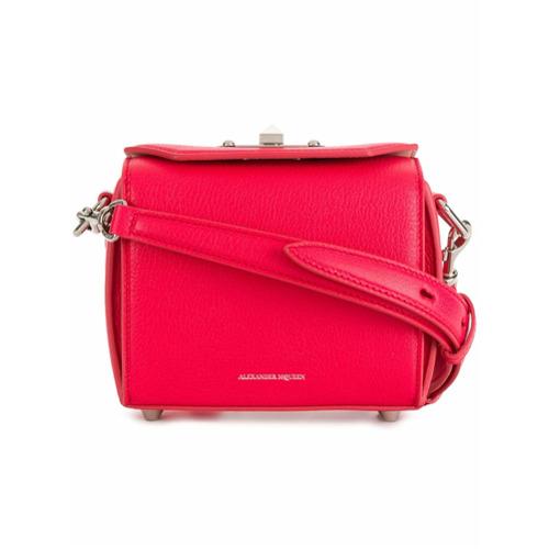 Imagem de Alexander McQueen Bolsa de couro com alça de corrente - Pink & Purple