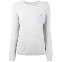 Chinti & Parker Suéter De Cashmere Com Bolso - Grey