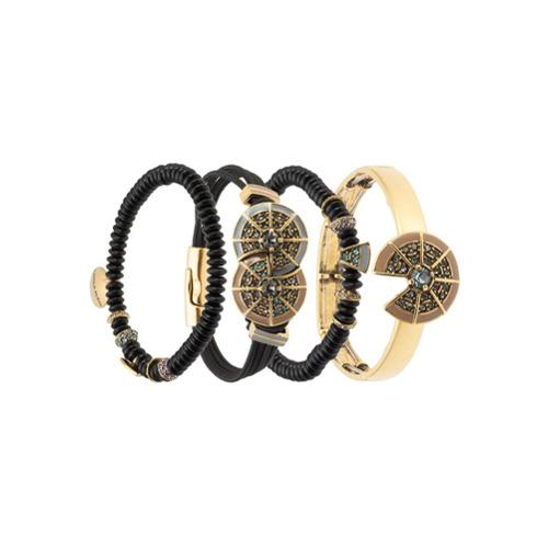 Imagem de Camila Klein Kit 4 pulseiras com strass - Preto