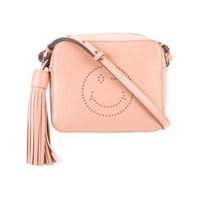 Anya Hindmarch Bolsa Transversal 'smiley' De Couro - Pink & Purple