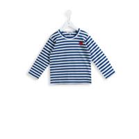 Comme Des Garçons Play Kids Camiseta Listrada - Azul