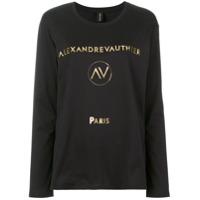 Alexandre Vauthier Camiseta Com Estampa De Logo - Preto