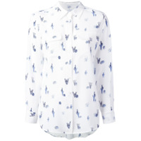 Equipment Camisa Estampada De Seda - Branco