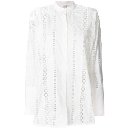 Zimmermann Camisa bordada - Branco