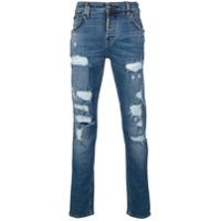 Philipp Plein Calça Jeans Reta 'rockstar' - Azul