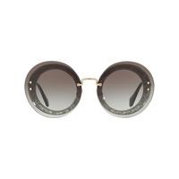 Miu Miu Eyewear Óculos De Sol Arredondado - Grey