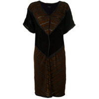 Alcaçuz Vestido De Veludo - Preto