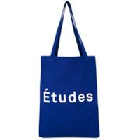 Études Bolsa Tote Com Logo - Azul