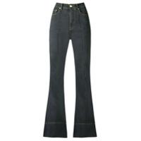 Amapô Calça Jeans Flare Cintura Alta - Cinza