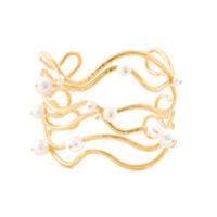 Aurelie Bidermann Bracelete Com Banho De Ouro 18Kt - Metálico