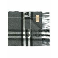 Burberry Echarpe Xadrez De Cashmere - Grey