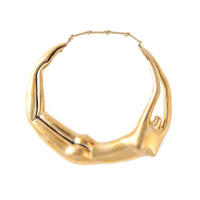 Aurelie Bidermann Choker Banhada A Ouro 18K 'body' - Metallic