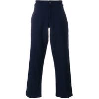 Comme Des Garçons Shirt Calça Reta De Sarja - Azul