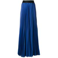 Diane Von Furstenberg Saia Longa Plissada - Azul