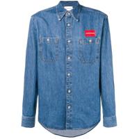 Calvin Klein Jeans Camisa Com Estampa Com De Logo - Azul
