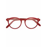 Cutler & Gross Óculos De Leitura Redondo - Vermelho