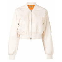 Givenchy Jaqueta Bomber Cropped - Pink & Purple