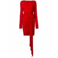 Alexandre Vauthier Vestido Com Franzido - Vermelho
