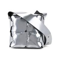 Paco Rabanne Bolsa Transversal 'puzzle' De Couro - Metallic
