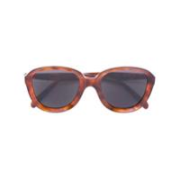 Céline Eyewear Óculos De Sol Redondo - Brown