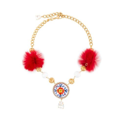 Imagem de Dolce & Gabbana Colar com pingentes e pompons - Metallic