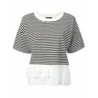Boutique Moschino Camiseta Com Acabamento Franzido - Preto