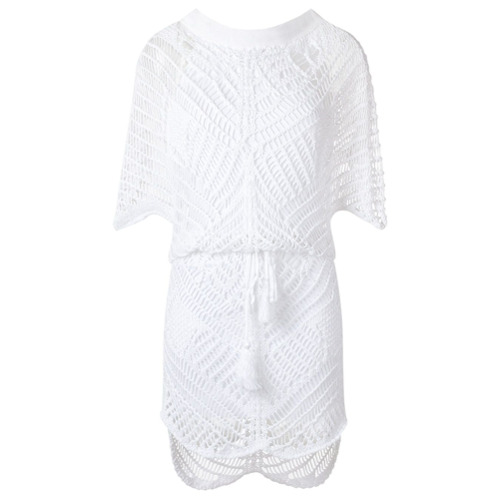 Canal Vestido de crochê - Branco