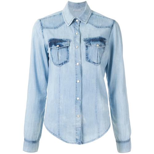 Corporeum Camisa jeans - Azul