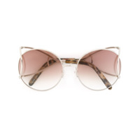 Chloé Eyewear Óculos De Sol Modelo 'jackson' - Metallic