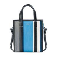 Balenciaga Bolsa Tote 'stripe Bazar Xs' - Azul