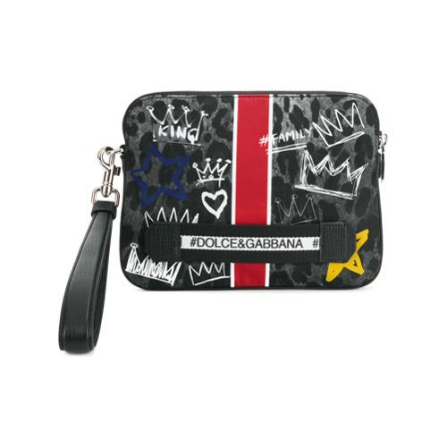 Imagem de Dolce & Gabbana Clutch estampada - Preto
