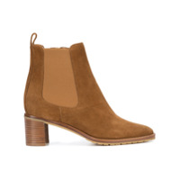 Manolo Blahnik Ankle Boot De Camurça 'ruffu' - Brown