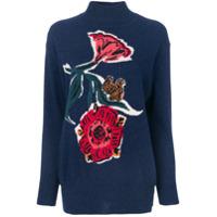Paul Smith Suéter Com Detalhe De Flores E Esquilos - Azul