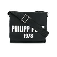 Philipp Plein Messenger Bag Com Logo - Preto