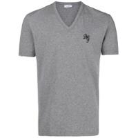Dolce & Gabbana Underwear Camiseta Gola V Com Logo - Cinza