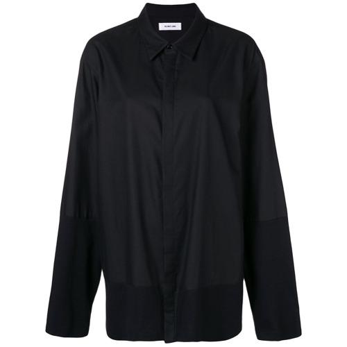 Camisa mangas longas preta em algodão , Helmut Lang.