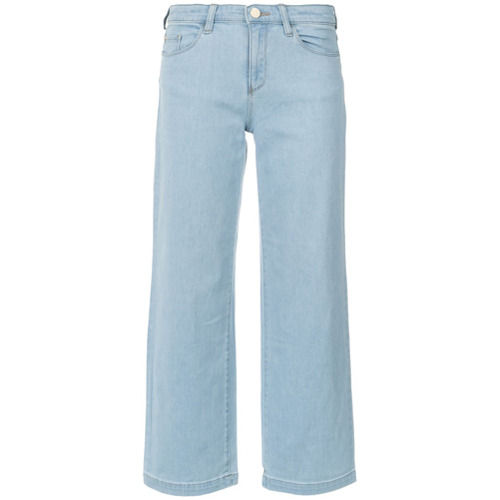 Armani Jeans Calça pantacourt jeans - Azul