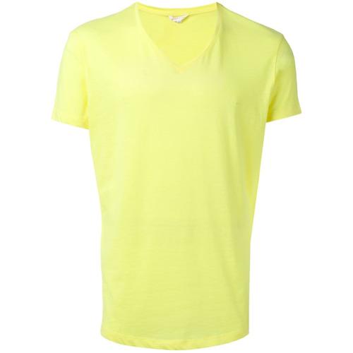 orlebar-brown-camiseta-gola-v-amarelo-e-laranja