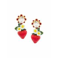 Dolce & Gabbana Par De Brincos 'strawberry' - Metálico