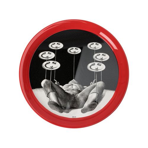 Fornasetti Don Giovanni round tray - Estampado