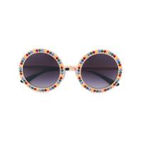 Dolce & Gabbana Eyewear Óculos De Sol Redondo - Estampado