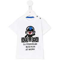 Fendi Kids Camiseta Com Estampa 'bag Bugs' - Branco