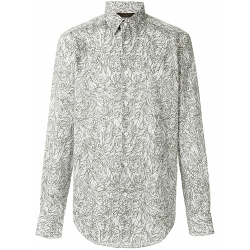 Ermenegildo Zegna Camisa estampada - Branco