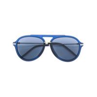 Fendi Eyewear Óculos De Sol Aviador - Azul