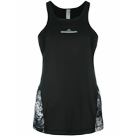 Adidas By Stella Mccartney Top Com Logo Estampado - Preto