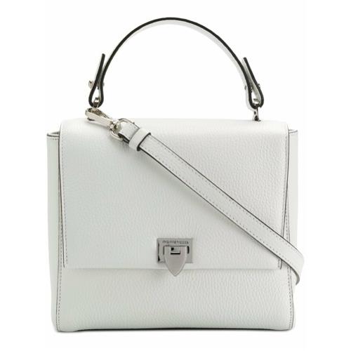 Bolsa tiracolo 'Petit' de couro branca, Philippe Model. Possui alça de mão, alça de ombro ajustável e removível e compar...