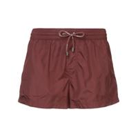 Dolce & Gabbana Drawstring Fitted Swim-Shorts - Vermelho